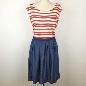 Odille Striped Chambray Pima Cotton Dress